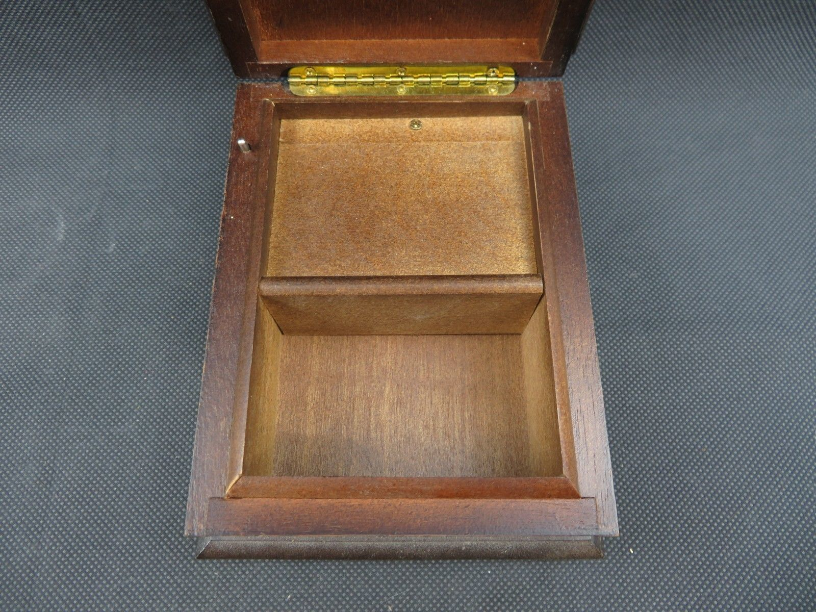 Vintage wood music box The San Francisco Music Box Company Mid Century deco