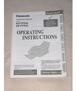 Panasonic Comp Plain Paper FAX KX FP250 FP245 Operating Instructions Man... - $12.95