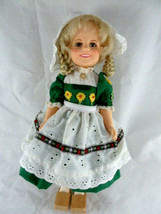 Vintage 1982 Ideal Doll 12 inch Shirley Temple Heidi with wooden shoes e... - $19.79