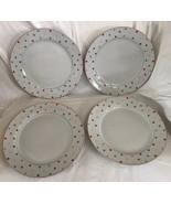 4 Home (Target) Chelsea Park Dinner Plate (s) Polka Multi Color Dots Por... - $59.39