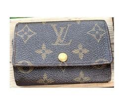 Louis Vuitton Wallet Key Caddy Case LV Monogram Browns France Vintage - $228.44
