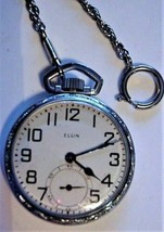 1942-43 ELGIN 9j 16s Pocket Watch 41972928 HEARN FAMILY HEIRLOOM NC w Pr... - $199.95