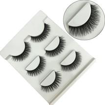 FOND Black Long Thick False Eyelashes Natural 3D Eye Lashes Cross Fashion Extens - $9.80