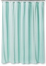 "Shower Curtain Embroidered Stripe Aqua Threshold 72"" x72"" - $19.79"