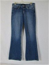 LEVIS 518 WOMENS  3  DENIM MEDIUM WASH SUPER LOW BOOT CUT STRETCH JEANS (N) - $31.50