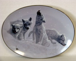 Bradford Exchange Lee Cable LE Collector Plate First Snow Wolf Cubs #7 W... - $36.14