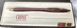 Cross  Burgundy & Gold Ballpoint Pen New In Box 2202 Made In Usa Engraved - $56.60
