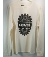 DI) Levis Men's Rodney Long Sleeve Thermal Tee Shirt Large Logo Off White - £15.04 GBP