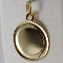 SOLID 18K YELLOW GOLD MEDAL PENDANT, GUARDIAN ANGEL LENGTH 1,06 IN MADE IN ITALY image 2