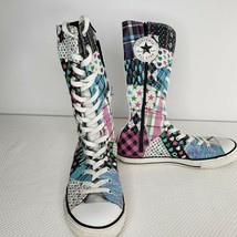 Converse 5 Pink Blue Chuck Taylor All Star Patchwork Tall Sneaker Shoes Boots - $49.45