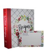 Recipe Binder, Recipe Cards, Plastic Page Protectors BRAND NEW Happy Kitchen - $25.37