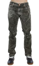Green Wash Cotton Stretch Slim Fit Jeans - $75.00