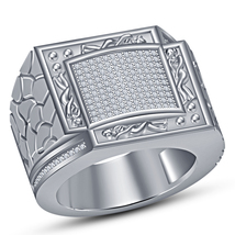 Men's Kamasutra Band Wedding Ring Round Cut Diamond White Gold Plated 92... - $146.88