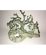Vintage Perth Pewter Dragon Slayer with Dragon and Treasure Chest - 1985... - $59.40