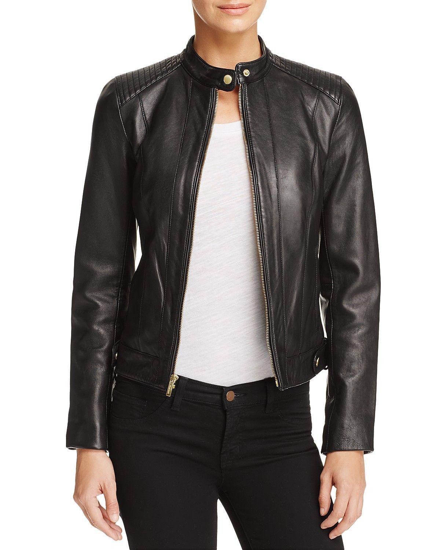 New Padded Shoulder Hot Women's 100% Genuine Soft Lamb Skin Leather biker Jacket
