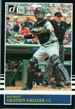 #205 Grayson Greiner Detroit 2019 Panini Donruss MLB Baseball Card AAH - $2.02