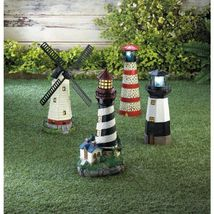 Solar Powered Lighthouses Available in 4 Designs - $39.95+