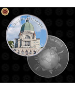 WR Wonders of Canada Saint Joseph's Oratory Design Silver Coin for Colle... - $7.41