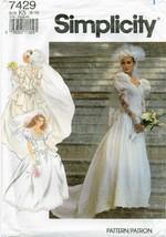 Simplicity 7429 Misses Wedding Bridal gown dress veil pattern rosettes UNCUT FF - $14.41