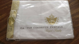 NEW CANNON ROYAL FAMILY PERCALE COMBSPUN FULL FLAT SHEET 81 X 108 WHITE - $14.99