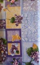 Butterflies Dragonflies Lilacs Flowers Vinyl Flannel Backed Tablecloth 5... - $8.99