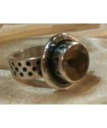 Artist Made HUGE Man's CETRINE & STAINLESS STEEL RING SWANSON CRAILLE GA... - $197.99