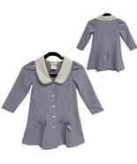 Bonnie Jean Long Sleeve Blue White Dress Girl's sz 4 (E-1H) - $21.78