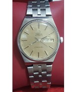VTg Automatic men Omega seamaster day date @ 3 Cal 1022  23J Beige patina dial  - $449.10