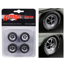 Magnum Wheels and Tires Set of 4 pieces from 1970 Plymouth GTX 1/18 by G... - $24.24