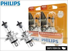 H4 9003 HB2 PHILIPS Standard Halogen Bulbs 9003B1 OEM Quality 60/55W   Pack of 2 - $20.25