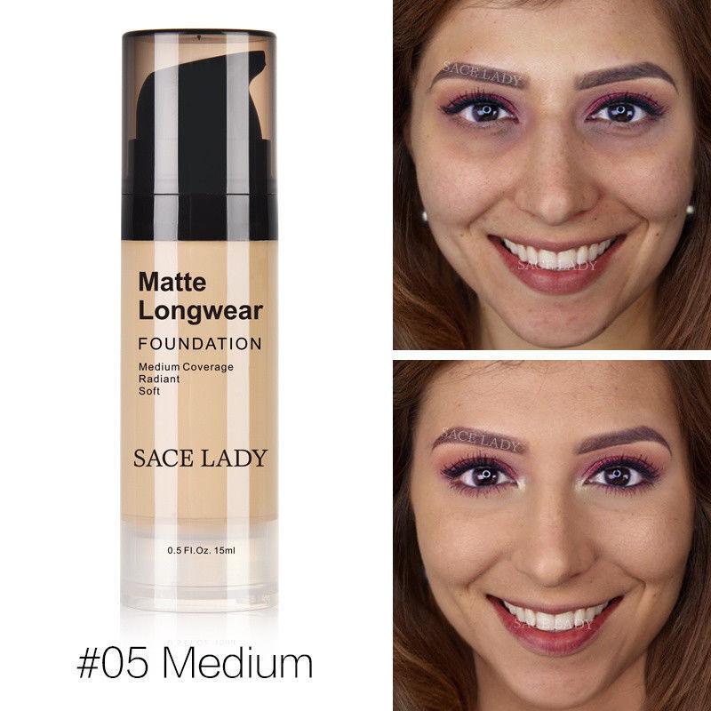 Foundation Base Makeup Professional Face Matte Finish Liquid Make Up Concealer image 3