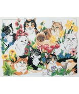 Dimensions Garden Cats Counted Cross Stitch Kit #3726 New but Opened & U... - $19.34