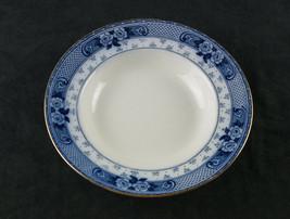 Ford & Sons Weir Blue Flow Soup Bowl, Antique Burslem, England Soup Plat... - $26.21