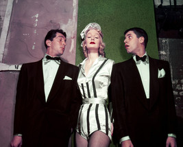 Dean Martin and Marlene Dietrich and Jerry Lewis classic photo of legends 16x20  - $69.99