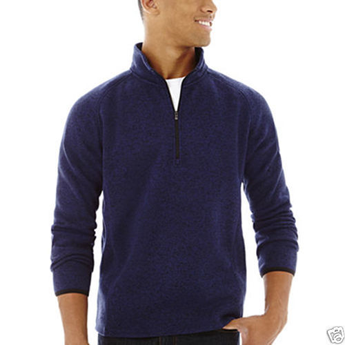 NWT Men/'s Nautica 1//4 Zip  Neck Active Fit Fleece Pullover Sweater Sweatshirt