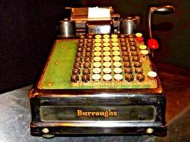Antique Burroughs Hand Crank Adding Machine AA19-1533 image 2