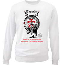Knight Templar Do What You Can 2 - New White Cotton Sweatshirt - $33.11