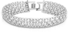 U7 Jewelry Chunky Punk Men Platinum Plated 15MM Wide Thick Chain Bracelet - $36.67