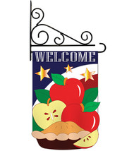 American Pie - Applique Decorative Metal Fansy Wall Bracket Garden Flag ... - $29.97