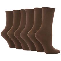"""6 Paar Damen Mädchen Baumwolle Socken Von """" Sock Snob"""" De 37-42 / Hellbraun - $14.51"""