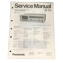 Original Technics Model SE-60 Stereo Radio with Cassette Deck Service Ma... - $19.99