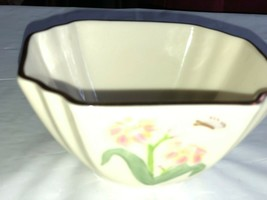 Vintage Lenox Small Dish Butterfly and Pink Flower Gold Mark - $14.99