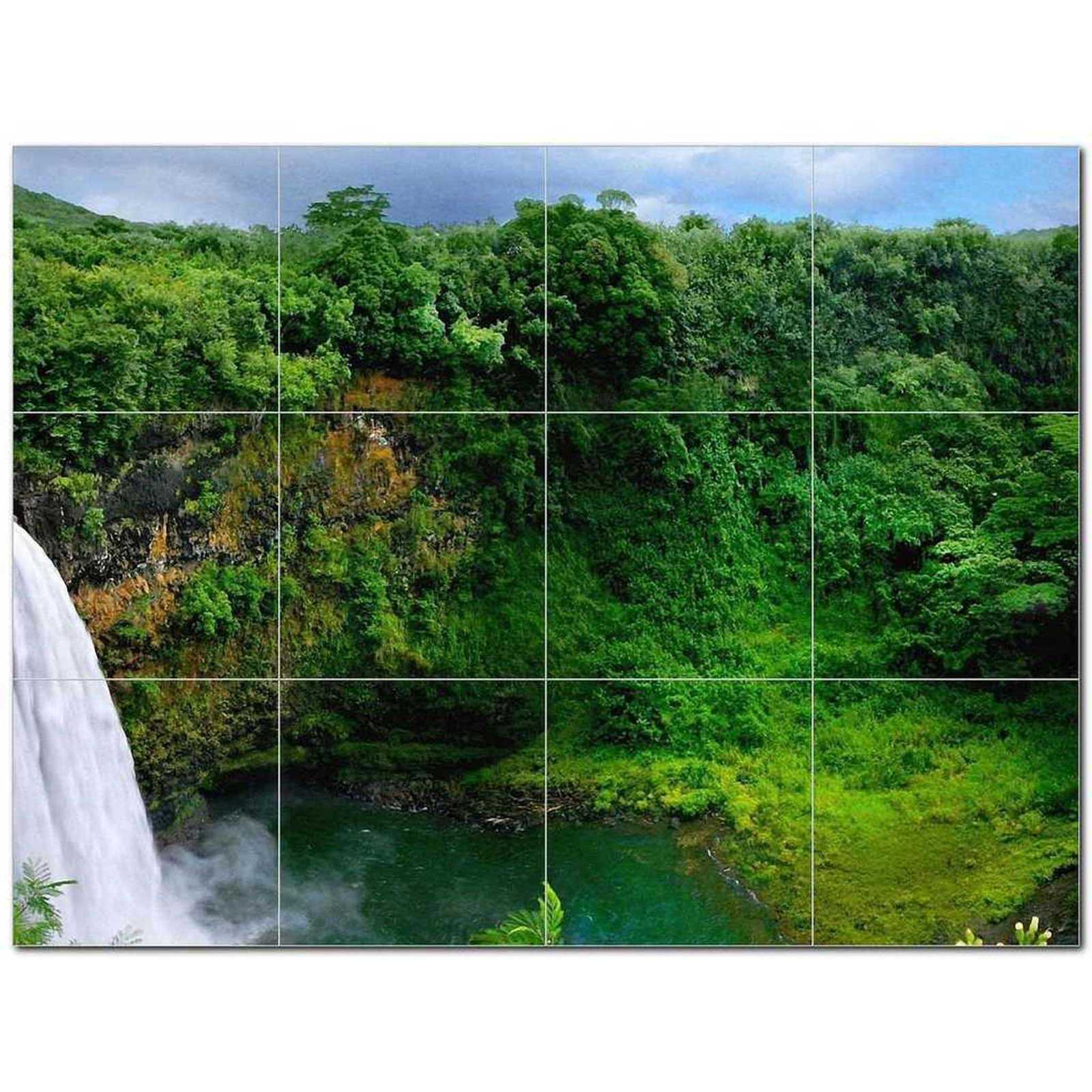 Primary image for Waterfall Picture Ceramic Tile Mural Kitchen Backsplash Bathroom Shower BAZ40615