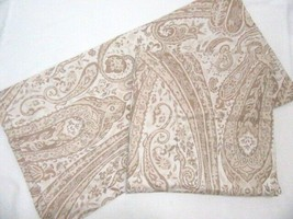 Pottery Barn Paisley Tan Cream Euro Shams (Set of 2) – Made in Italy - $56.00
