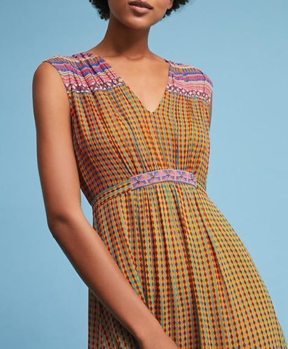 Anthropologie Aelyn Embroidered Maxi Dress by Tanvi Kedia $228  Sz 4 - NWT