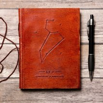 Leo Zodiac Handmade Leather Journal - $38.00