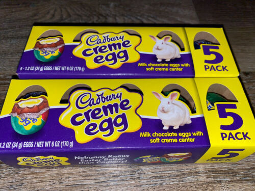 Primary image for Cadbury ~ Creme Chocolate Eggs 2-Boxes 10-Count 1.2 oz Each ~ Expires 07/2020