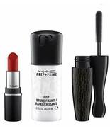 MAC Shiny Pretty Things All Star Kit CHILI (Lipstick, Black Mascara, Pre... - $29.70