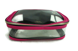 Victoria Secret Clear Pink Make Up Travel Accessory Bag - $17.73