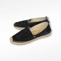 Sam Edelman Khloe Black Leather Espadrilles Women 10 Suede Flats Shoes - $29.69
